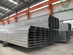 canal de barra de acero, tamaños de barra de canal